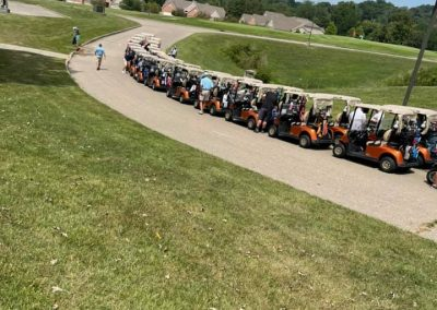 Golf 2021 Lined up and ready for the shotgun start