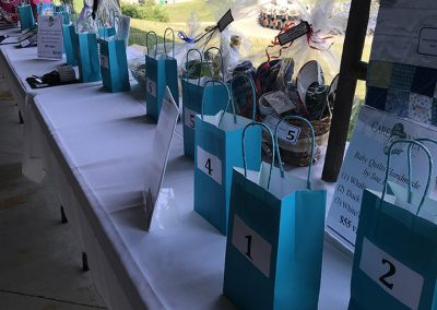 Golf 2021 Raffle bags ready for tickets
